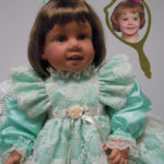 Doll That Looks Like Your Child Wearing Aqua Lace Dress