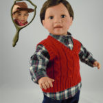 Doll that Looks Like Your Child Boy Wearing Red Vest