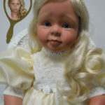 Photo Doll Dressed in Pale Yellow Organdy