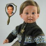 Photo Doll Boy Wearing Green Sweater