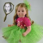 Photo Doll Wearing Green Tutu