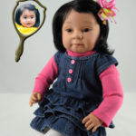 Doll That Looks Like Your Child Wearing Denim Jumper