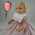 Photo Doll Wearing Pink Rosebud Dress