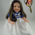 Dolls That Look Like Your Child Dressed in White with Royal Blue