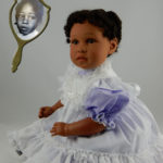 Dolls That Look Like Your Child Dressed in White with Lavender