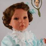 Doll that Looks Like Your Child Wearing Aqua Dress