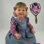 Doll that Looks Like Your Child in Chambray Jumper