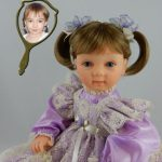 Doll That Looks Like Your Child Wearing Lavender Lace Dress