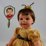 Dolls That Look Like Your Child Wearing Gold Sparkle Dress