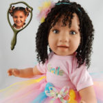Doll that Looks Like Your Child created with long curly hair